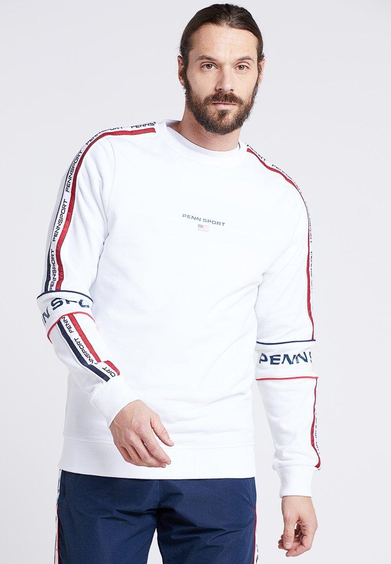 Penn - MENS STRIPE TAPED PULLOVER - Sweatshirt - white