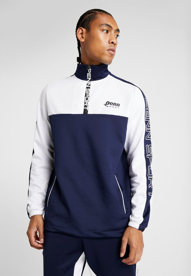 MENS LOGO 1/4 ZIP  - Collegepaita - navy