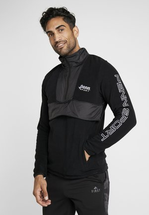 MEN'S BLOCKED POLAR ZIP - Fleece jumper - black