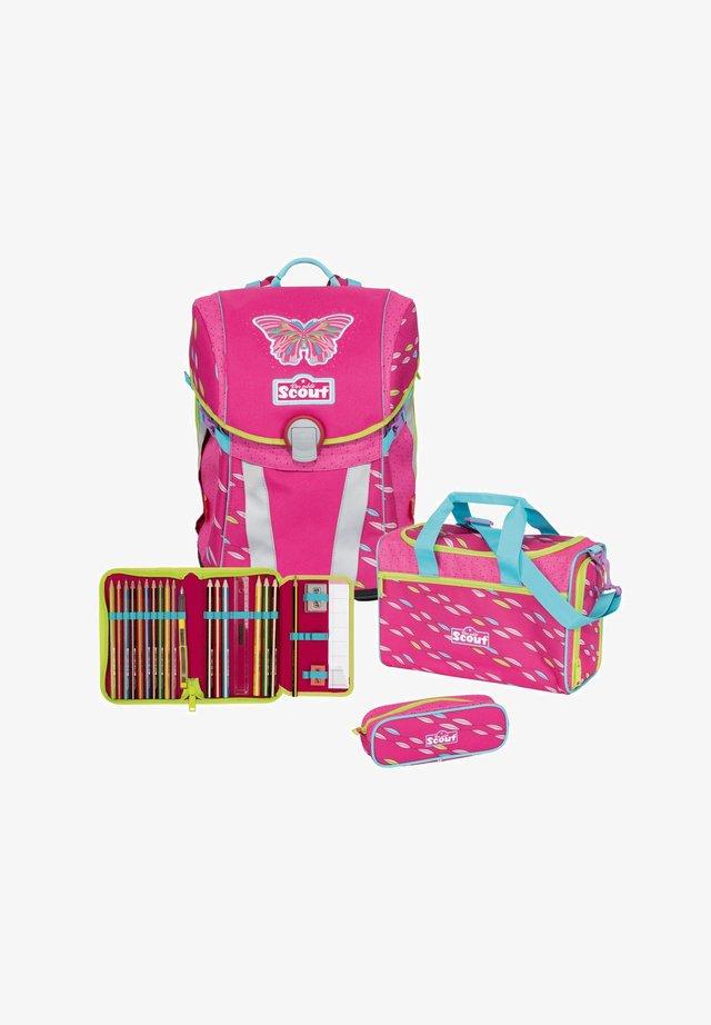 School set - pink butterfly