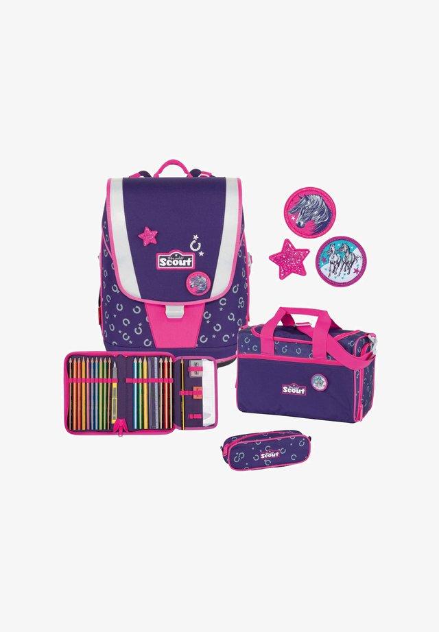 SET - School bag - purple/grey