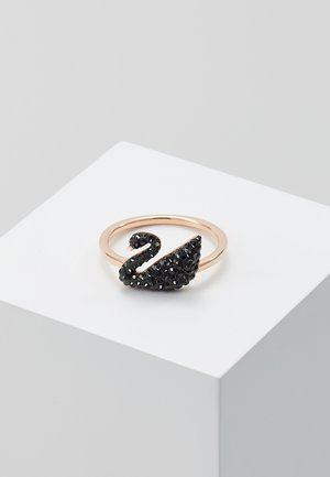ICONIC SWAN - Anillo - rosegold-coloured/black