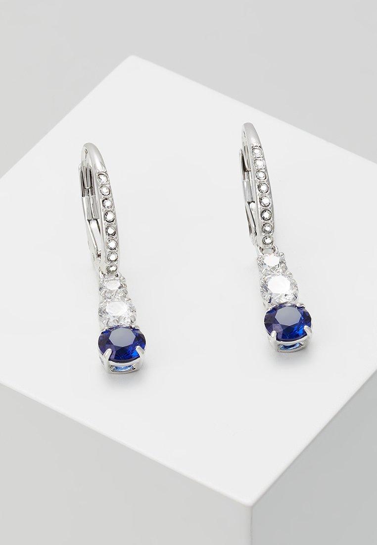 dark Sapphire Attract D'oreilles Swarovski coloured TrilogyBoucles 0XN8wPZOnk