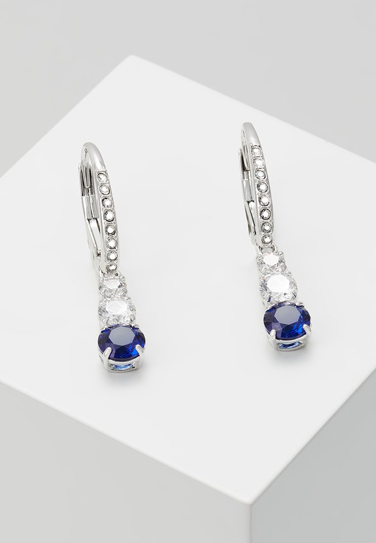 Swarovski - ATTRACT TRILOGY - Pendientes - sapphire-coloured/dark