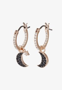 Swarovski - DUO HOOP MOON JET - Pendientes - rose gold-coloured/black - 4