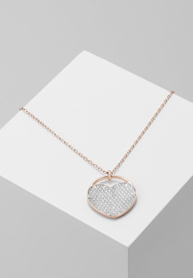 GINGER PENDANT MEDIUM - Necklace - rosegold-coloured/white