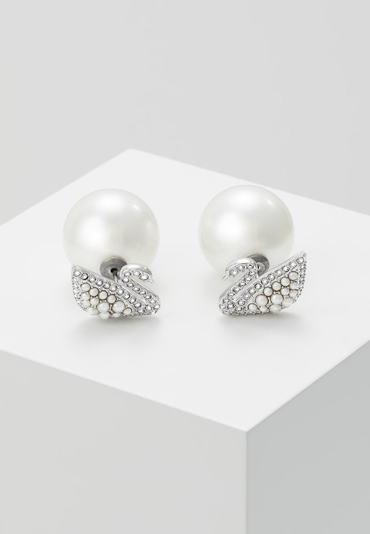Swarovski - ICONIC SWAN - Earrings - white