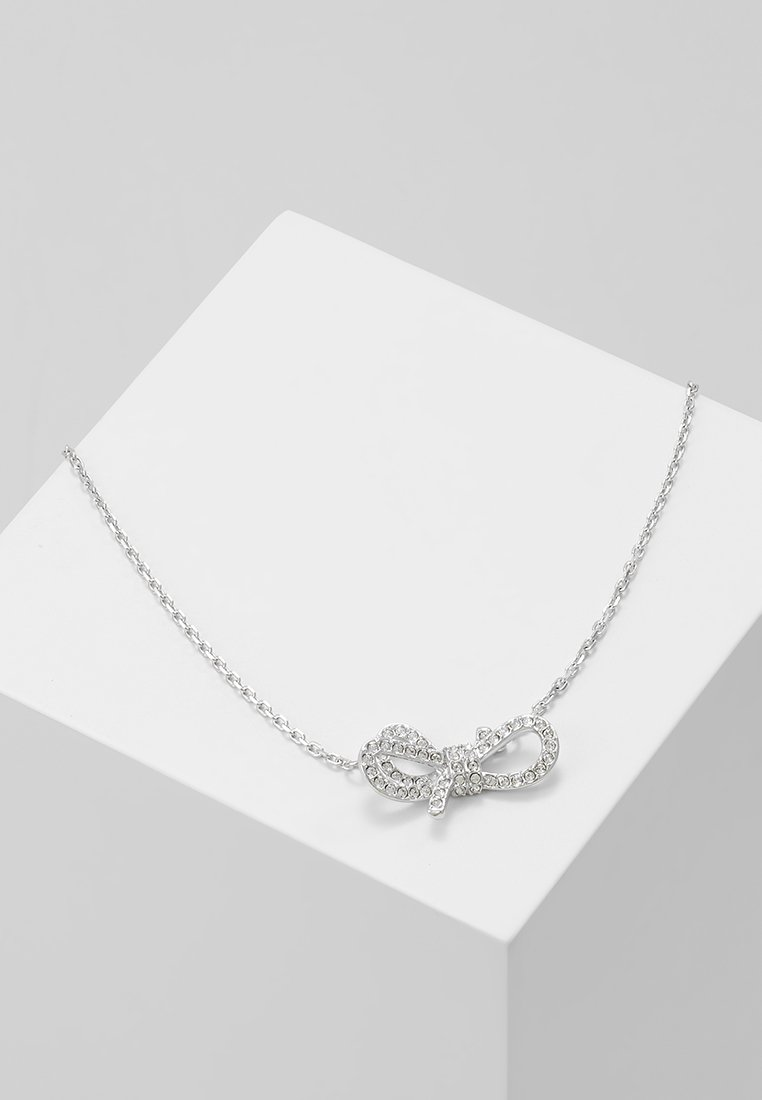 Swarovski - LIFELONG BOW NECKLACE - Náhrdelník - silver-coloured