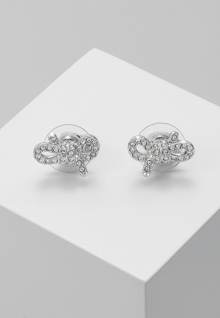 Swarovski - LIFELONG BOW - Earrings - silver-coloured