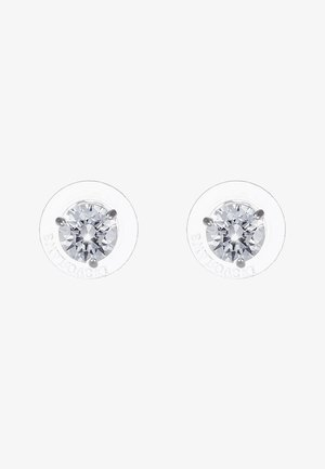 SOLITAIRE - Earrings - silver-coloured/transparent