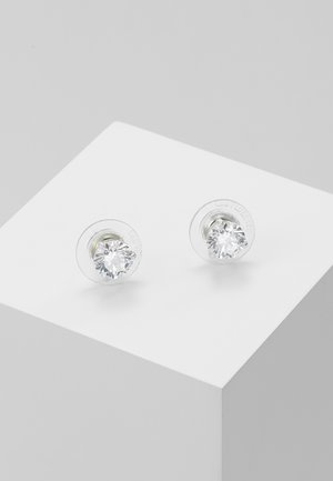 SOLITAIRE - Pendientes - silver-coloured/transparent