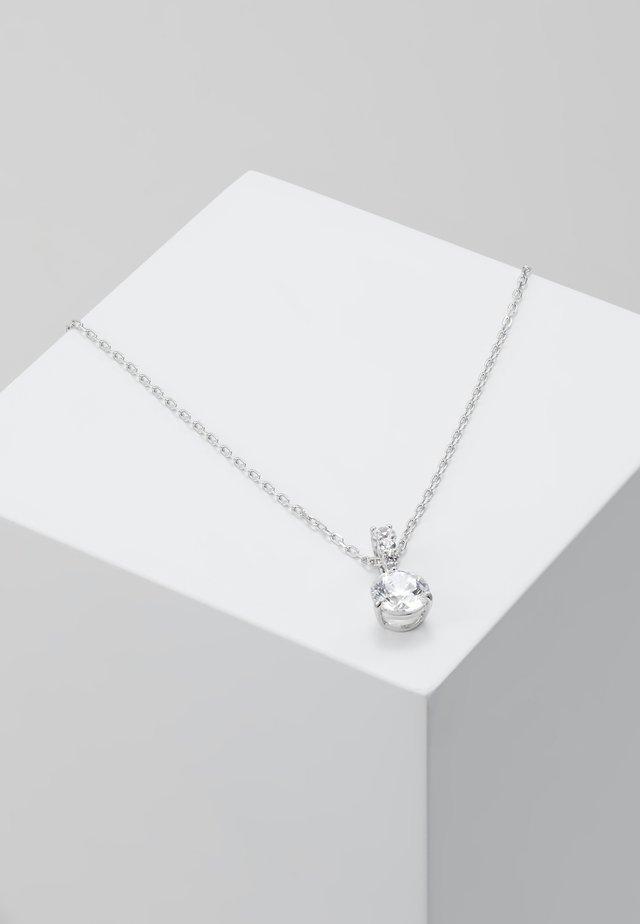 SOLITAIRE PENDANT - Necklace - white