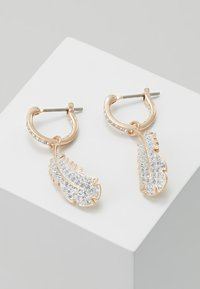 Swarovski - NAUGHTY HOOP DROP  - Earrings - rosegold-coloured - 0