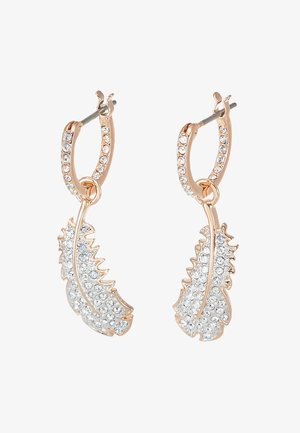 NAUGHTY HOOP DROP  - Earrings - rosegold-coloured