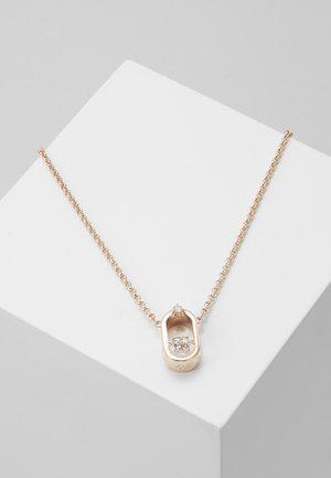 SPARKLING NECKLACE OVAL - Necklace - white