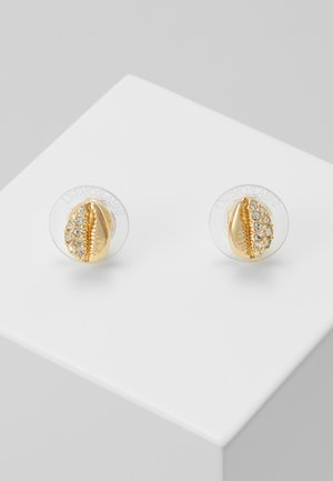 SHELL STUD - Earrings - silver-coloured