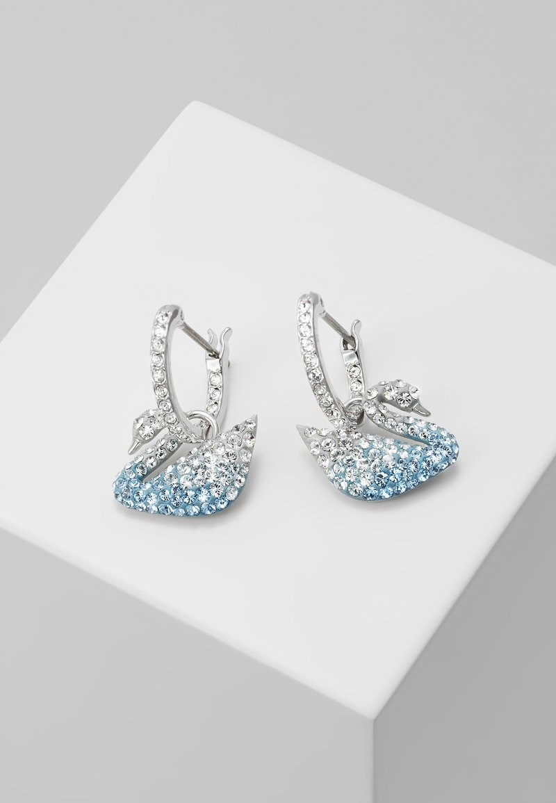Swarovski - ICONIC SWAN HOOP - Earrings - multi