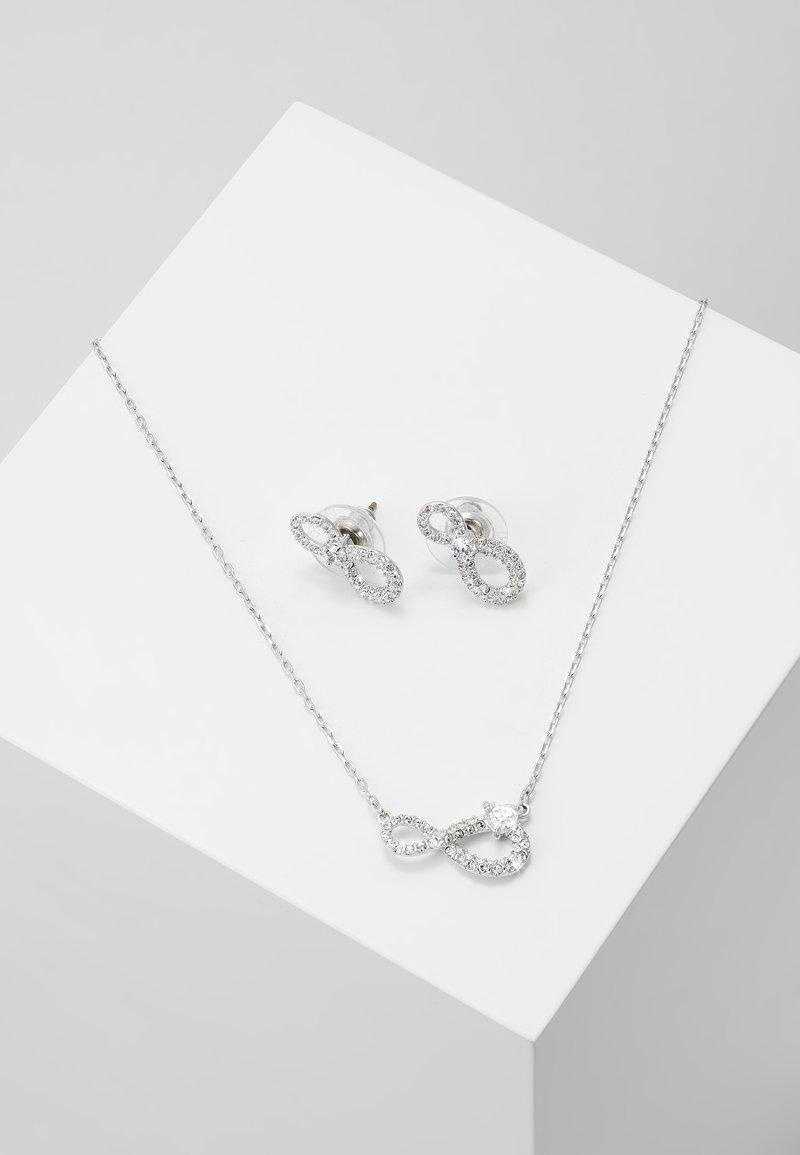 Swarovski - INFINITY SET - Pendientes - silver-coloured