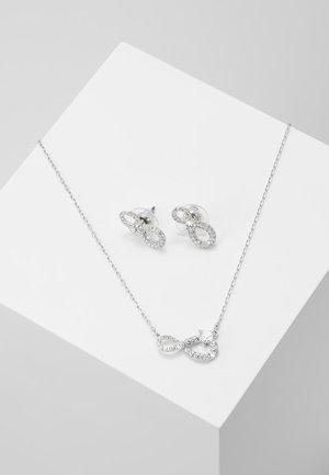 INFINITY SET - Korvakorut - silver-coloured