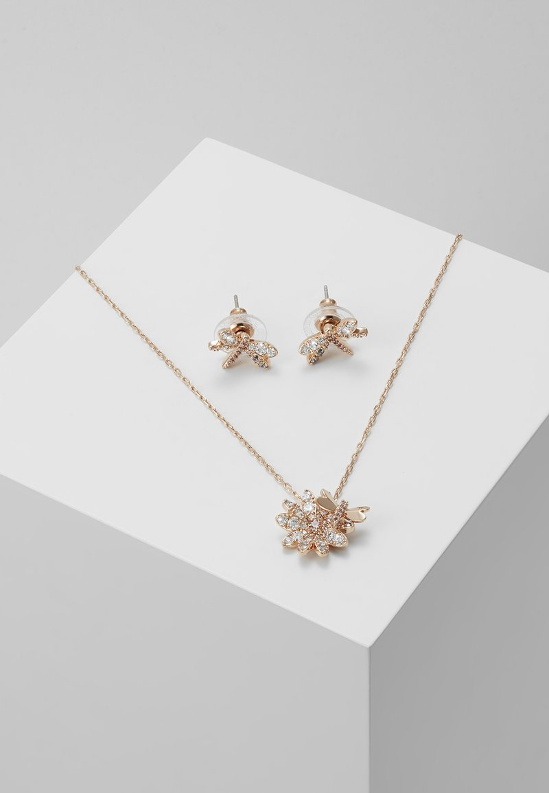 Swarovski - ETERNAL FLOWER FLY SET - Náušnice - rose gold-coloured