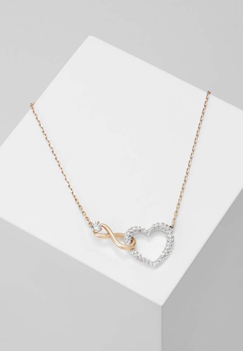Swarovski - INFINITY NECKLACE - Ketting - rose gold-coloured