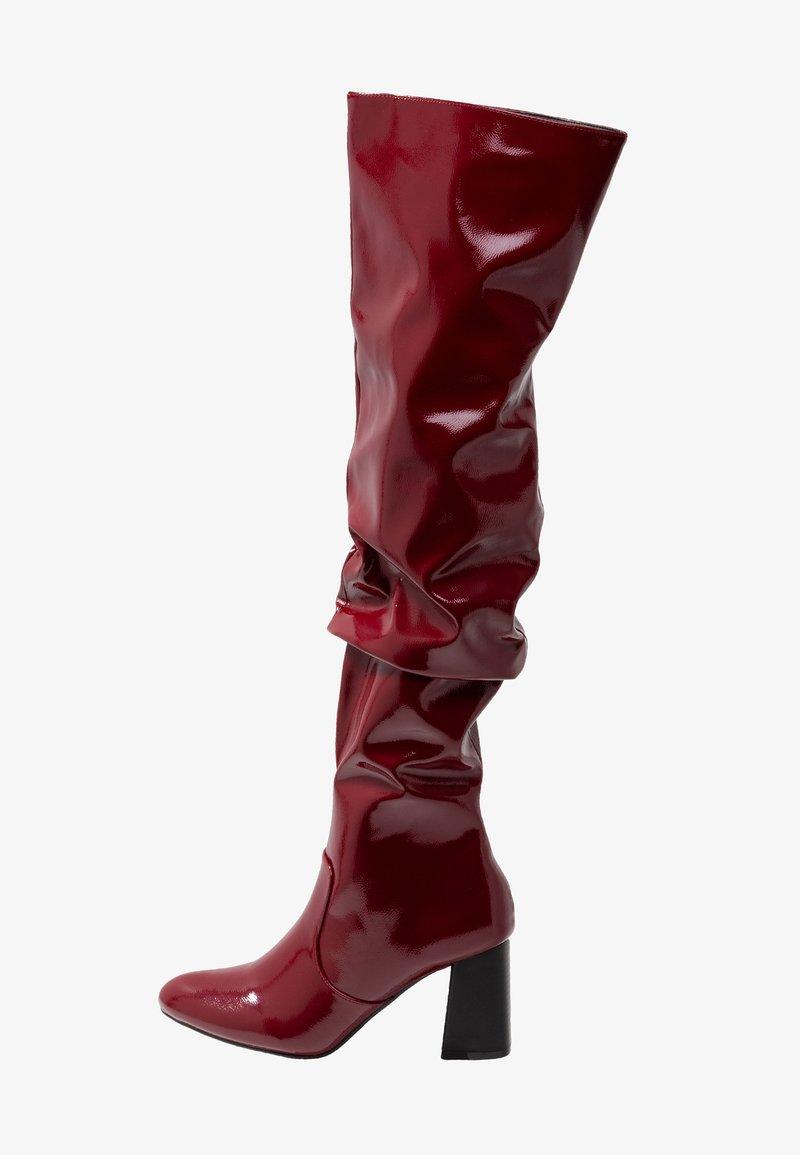 4th & Reckless - ORLANDO - Kozačky nad kolena - dark red