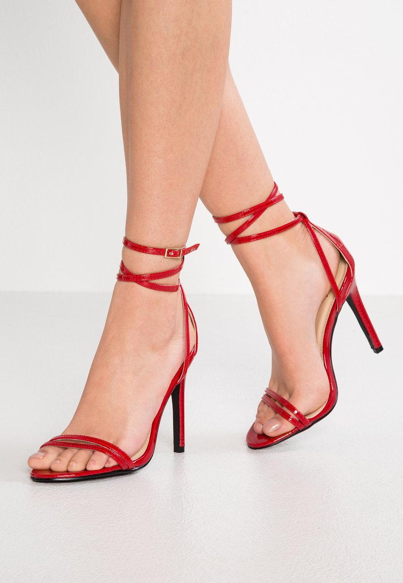 4th & Reckless - BEAU - Sandály na vysokém podpatku - red