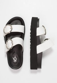 4th & Reckless - STACEY - Mules - black/white - 3