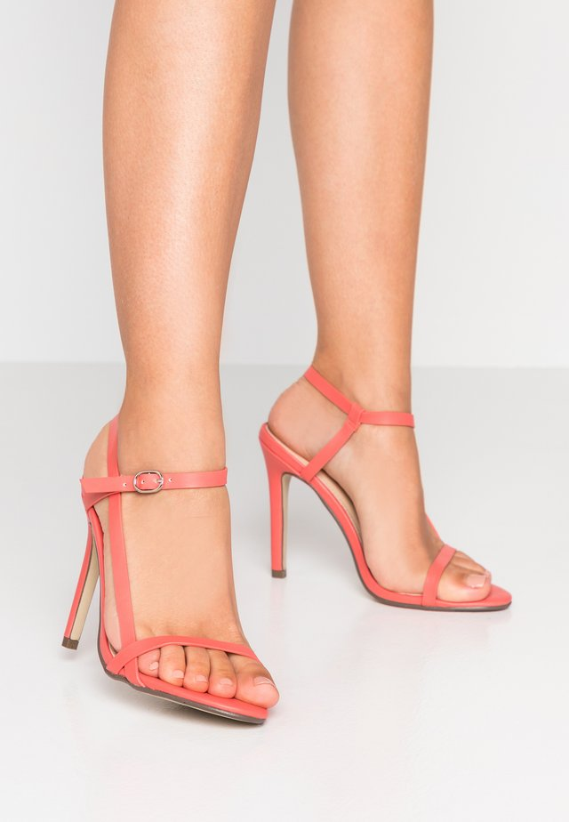 MAISEY - High heeled sandals - coral