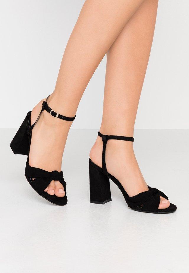 ECCLES - Sandalen met hoge hak - black