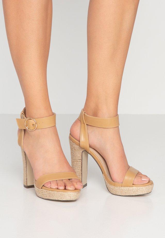 SANTORINI - High heeled sandals - nude