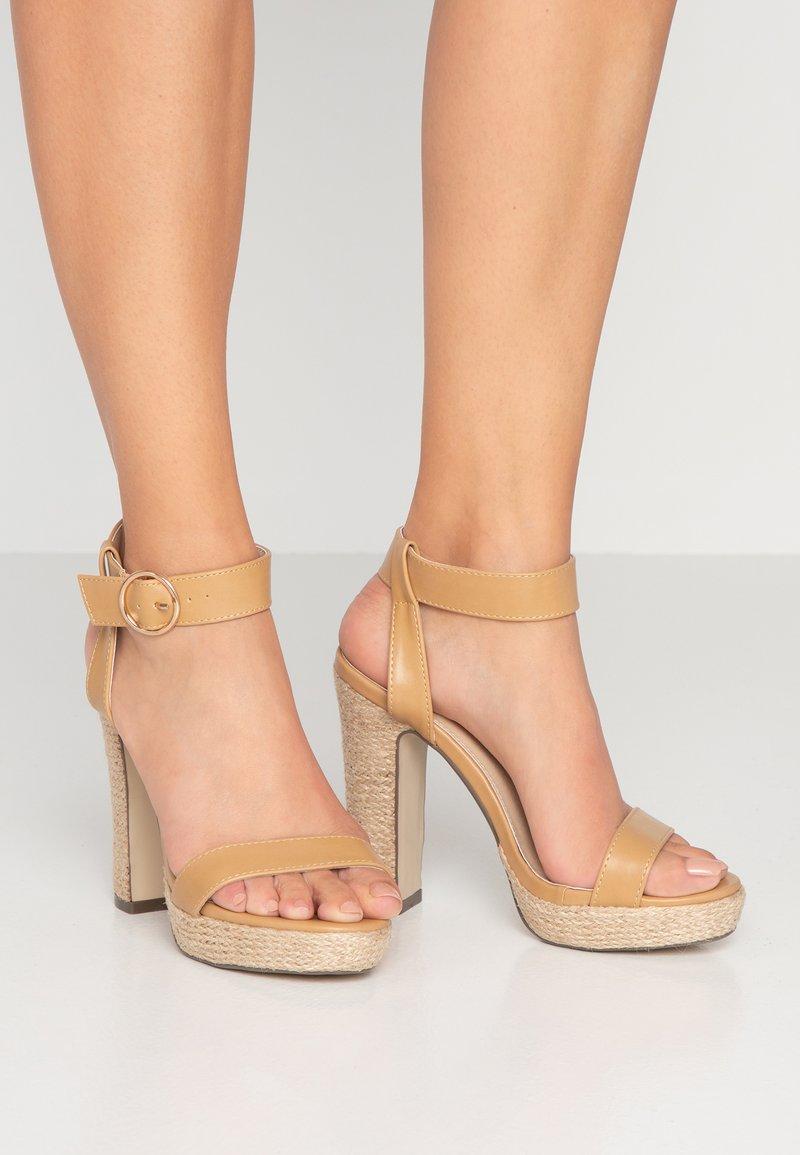 4th & Reckless - SANTORINI - High heeled sandals - nude