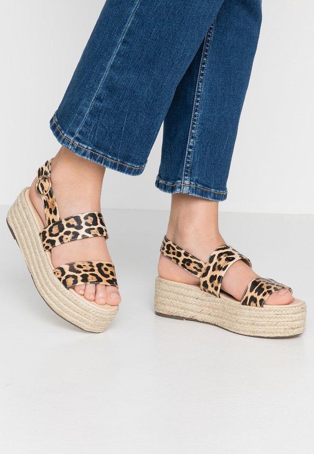 ELTON - Platform sandals - brown