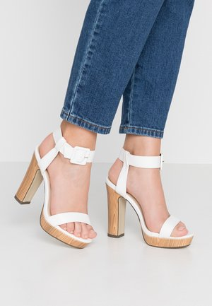LUTHER - High heeled sandals - white