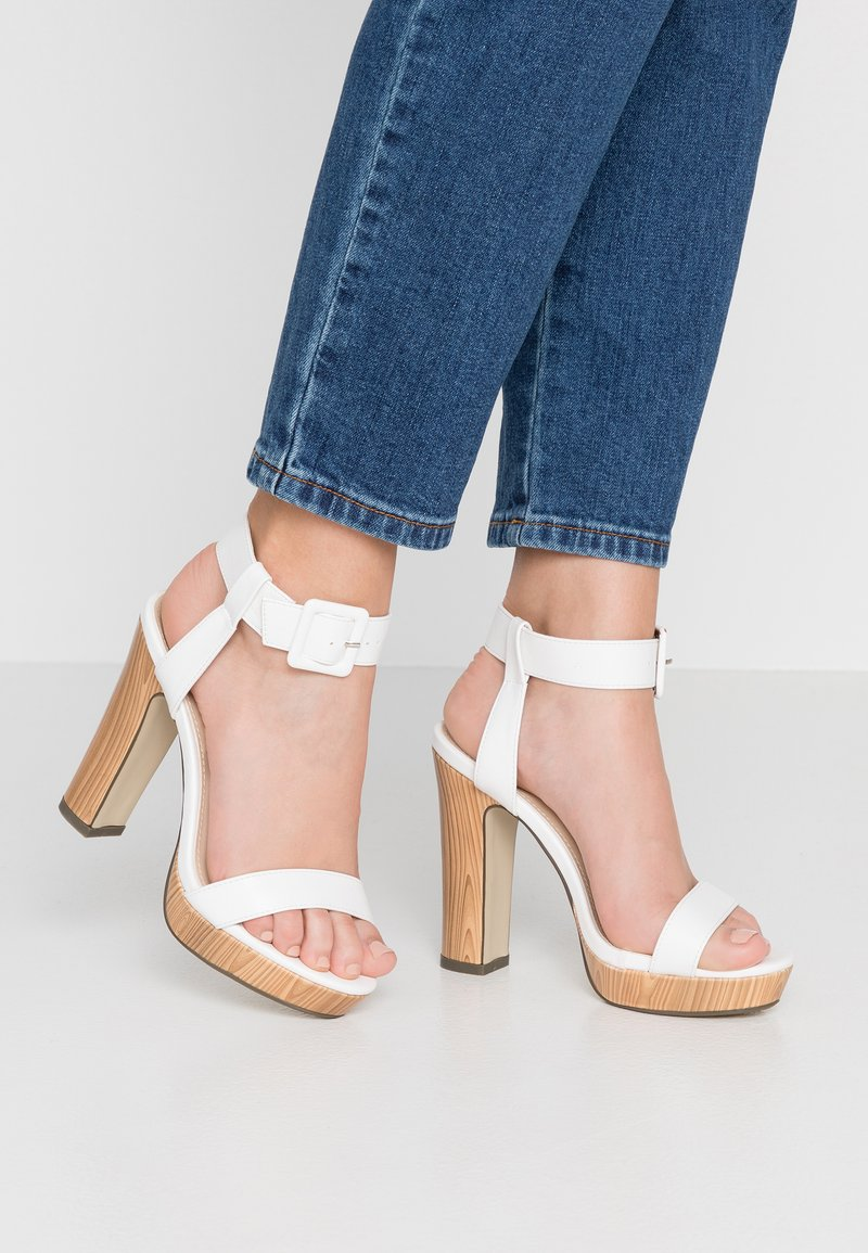 4th & Reckless - LUTHER - High Heel Sandalette - white
