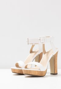4th & Reckless - LUTHER - Sandály na vysokém podpatku - white - 4