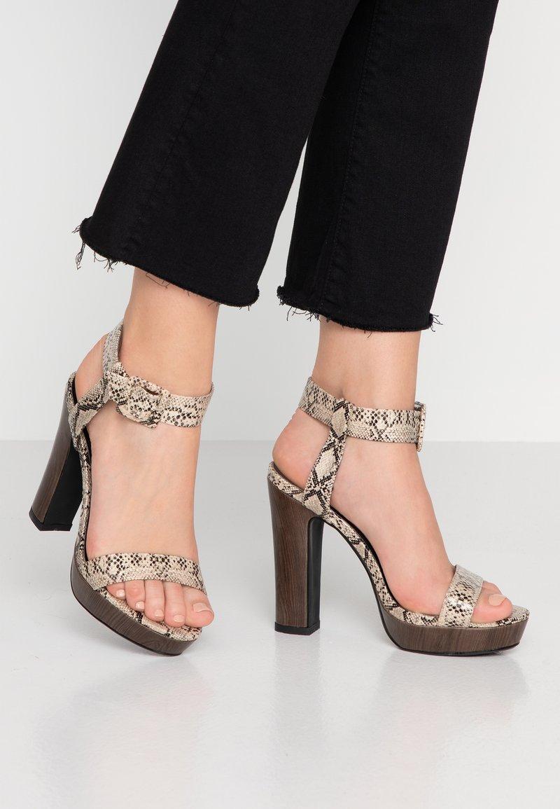 4th & Reckless - LUTHER - Højhælede sandaletter / Højhælede sandaler - grey