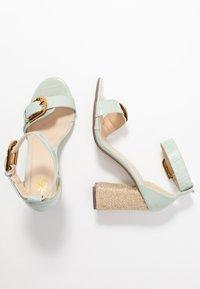 4th & Reckless - MORGAN - Sandály na vysokém podpatku - mint - 3