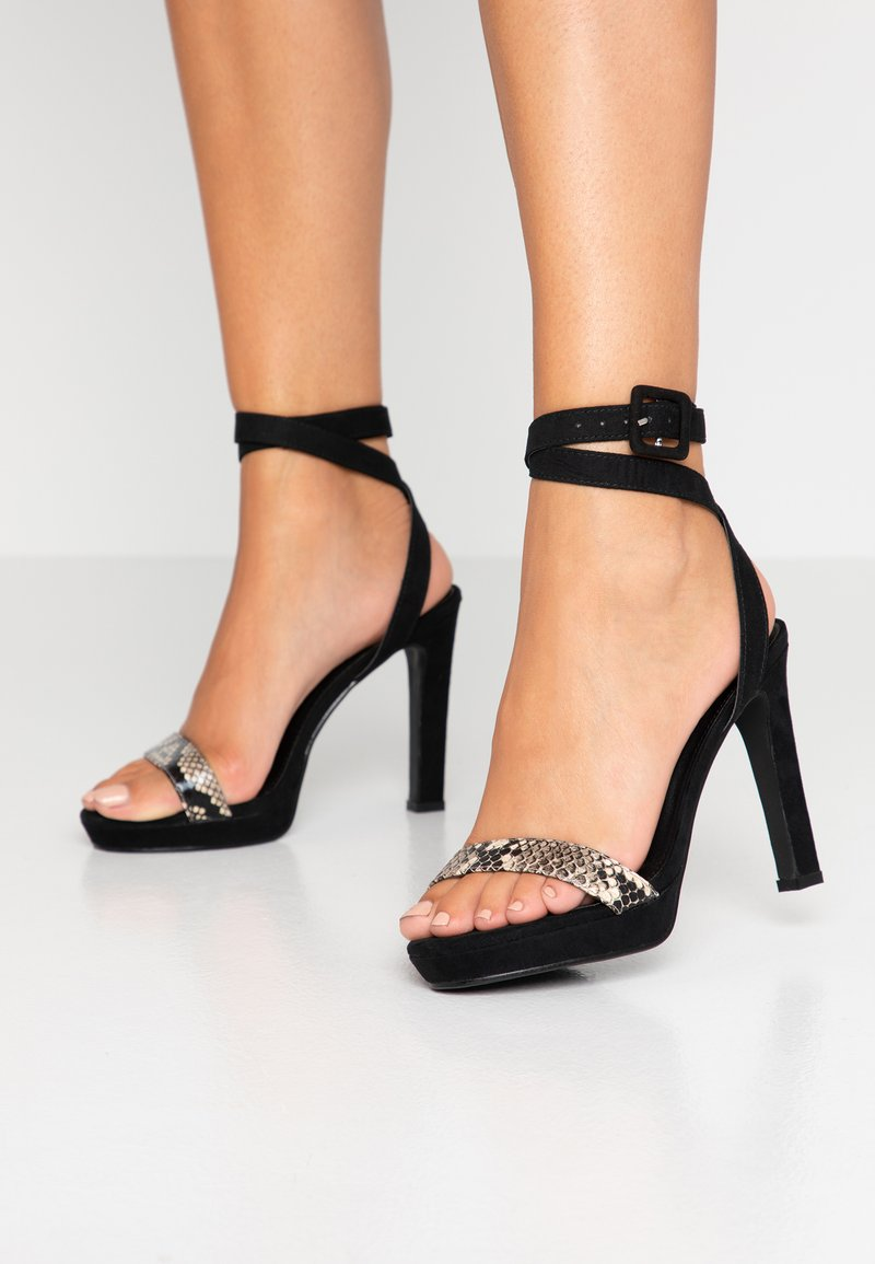 4th & Reckless - BUXTON - High Heel Sandalette - black