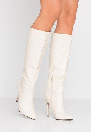 BLANCO - Kozačky na vysokém podpatku - cream