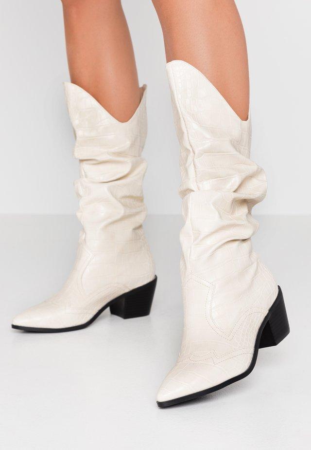 KENDRICK - Cowboy/Biker boots - cream
