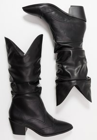 4th & Reckless - LARSEN - Cowboy/Biker boots - black - 3