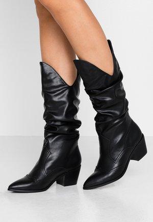 LARSEN - Cowboy/Biker boots - black