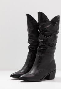 4th & Reckless - LARSEN - Cowboy/Biker boots - black - 4