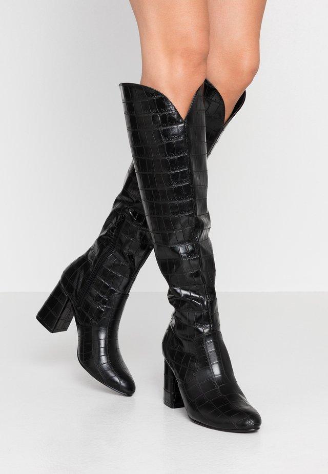 WALKER - Vysoká obuv - black