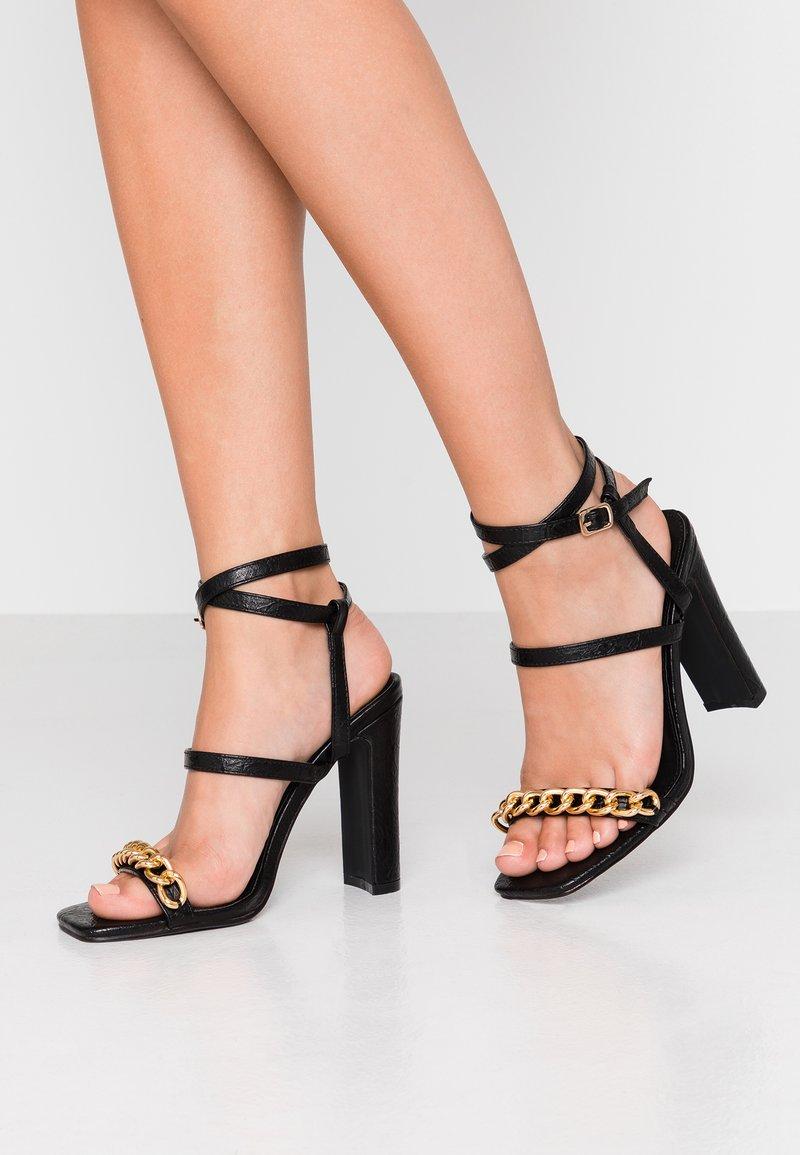 4th & Reckless - CITY - Højhælede sandaletter / Højhælede sandaler - black
