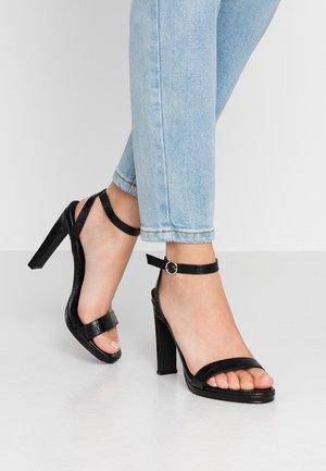 MELODY - Sandaler med høye hæler - black