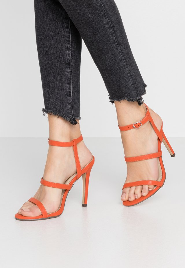 JULES - High heeled sandals - orange