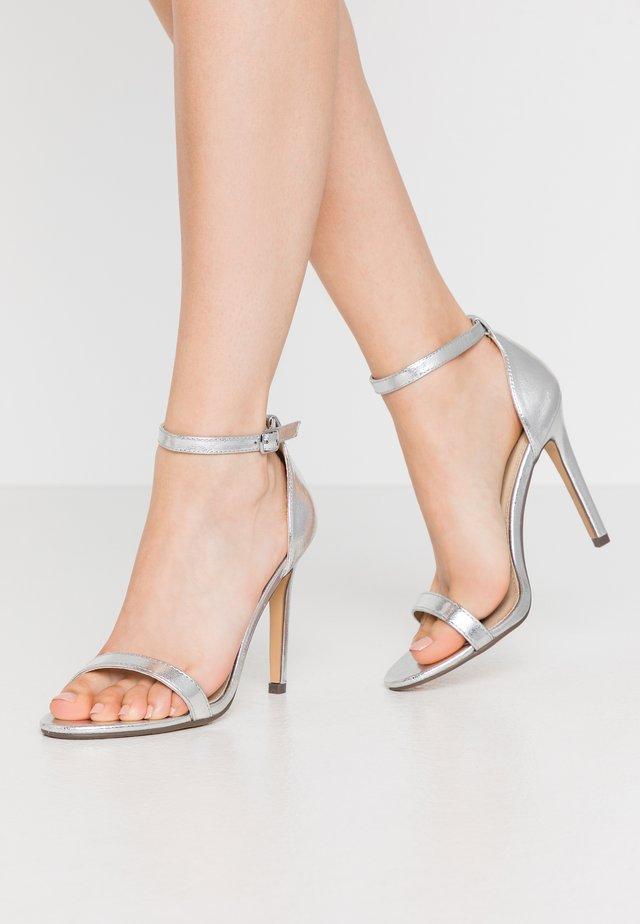 JASMINE - Sandály na vysokém podpatku - silver