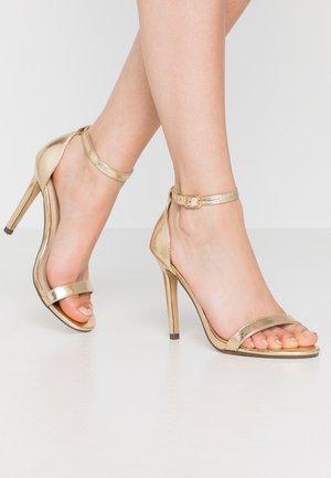 JASMINE - Sandalen met hoge hak - gold